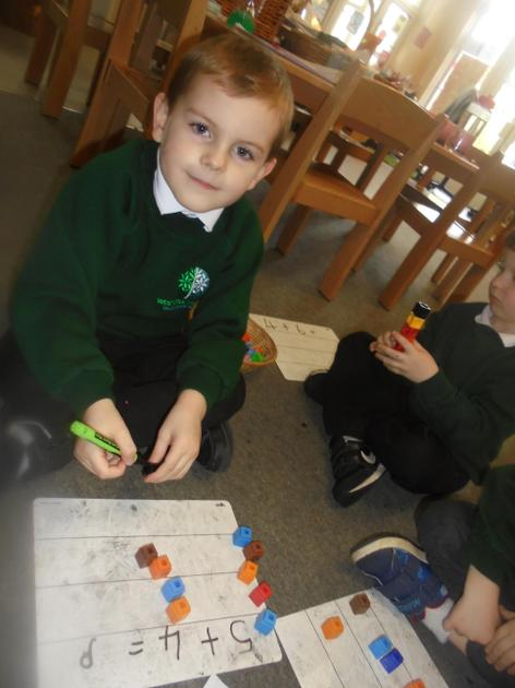 Cubes are really good resources when we look at addition.