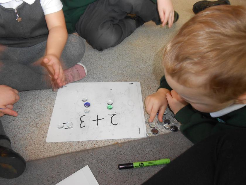 Lots of concentration needed to solve our number problems.