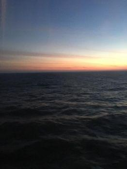Sunset on ferry back