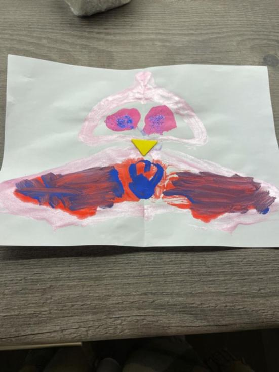 Evelyn's lovely owl painting