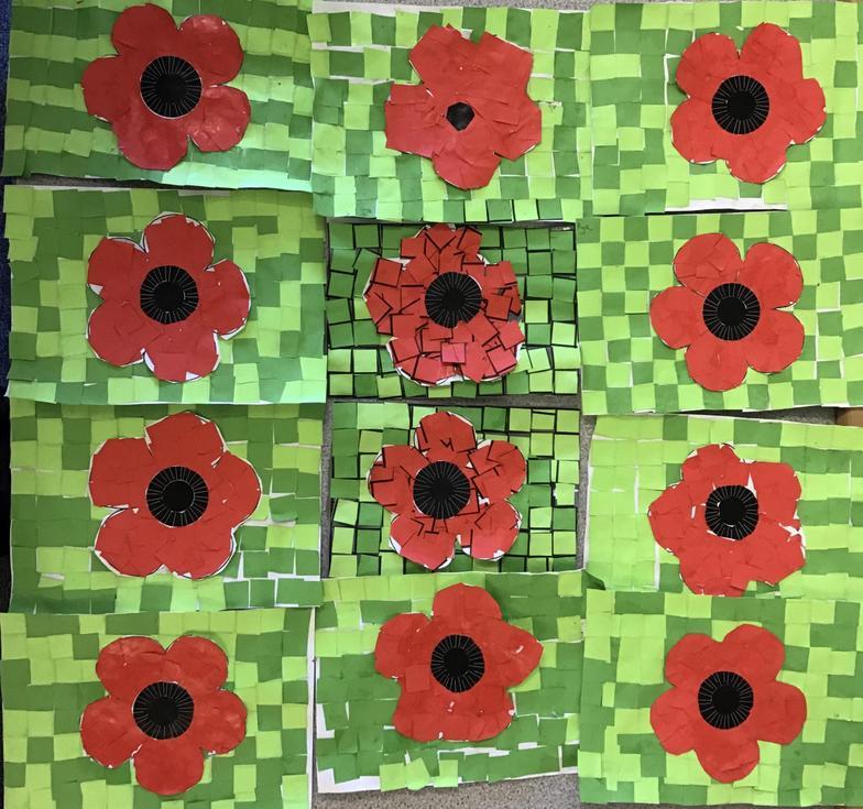 Our poppy mosaics