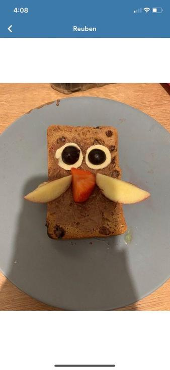 Ruben's lovely owl toast
