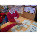 We are using our sounds to read simple words.