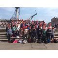 In front of HMS Victory before lunch.