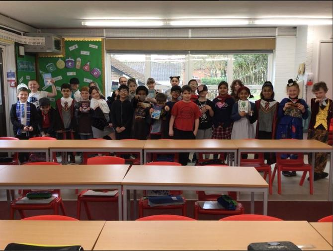Year 3 and 4 celebrating World Book Day!