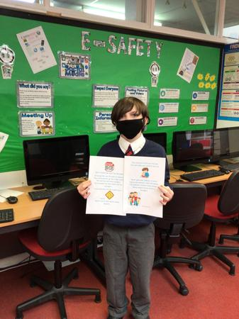 Jamie from 7BD: winning for his creative use of a rap to convey his information!
