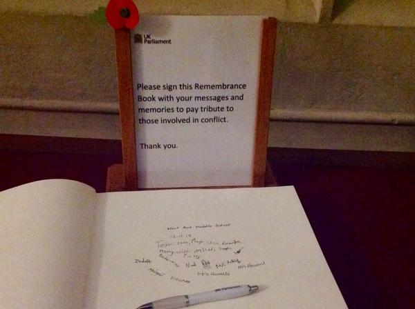 We signed the Remembrance Book.