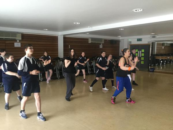 Zumba class at Droitwich Spa Leisure Centre