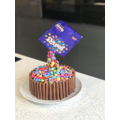 Mollie W Smartie cake