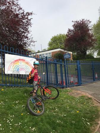 Oliver's bike ride passing Westacre