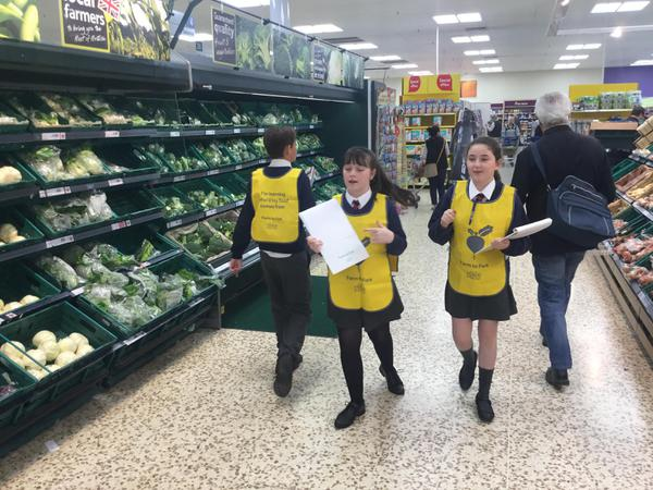 Farm to Fork visit at Tesco in Worcester