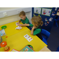 Many games of number recognition bingo were played!