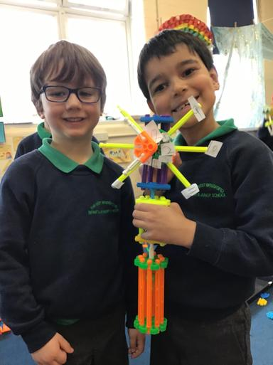 Here are 2 of our engineers with their working model of Big Ben!