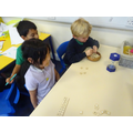 Creating as many words as we could while beating the timer!