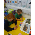 We wrote down any interesting things from the materials books!