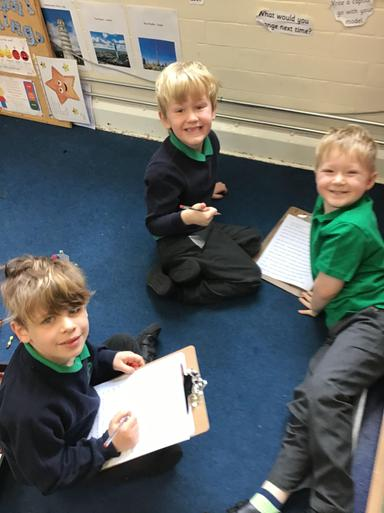 We were the teacher - using special red pens we spotted mistakes in Miss Williams' work!