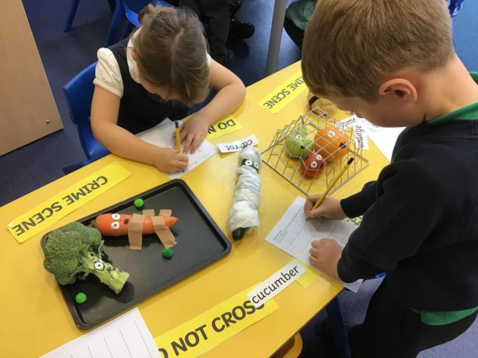 We wrote lists of which vegetables needed help.