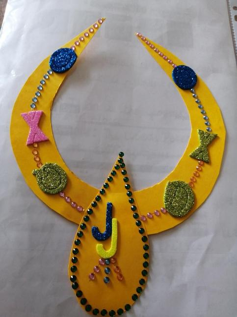 Josiah's art work based on our topic jewellery