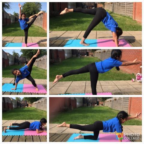 Shanaya's balances for gymnastics