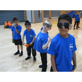 Flamingo class  do PE with their Simspecs on