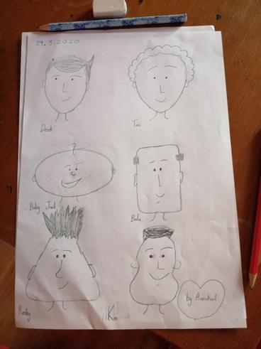 Drawing cartoon characters