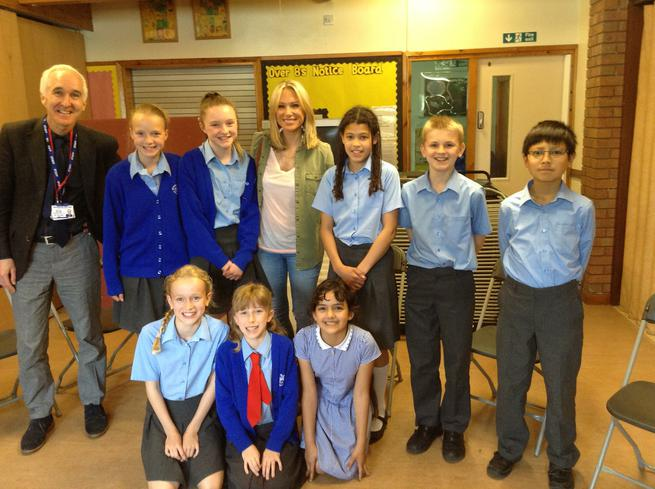 Tricia McTeague with some of our Y6 song writers.