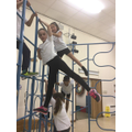 Year 5 performing balance shapes