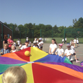 playtime fun with parachutes