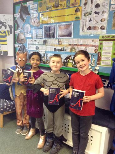 Dictionary challenge winners from Class Seven.