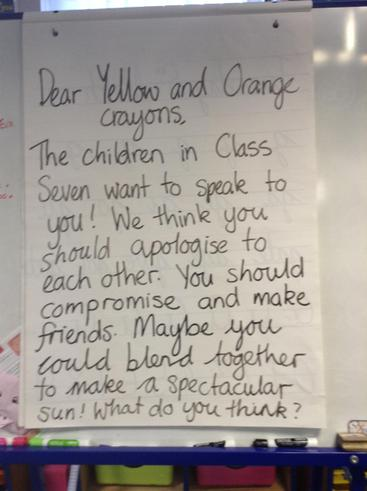 We wrote a reply to the Yellow and Orange Crayons.