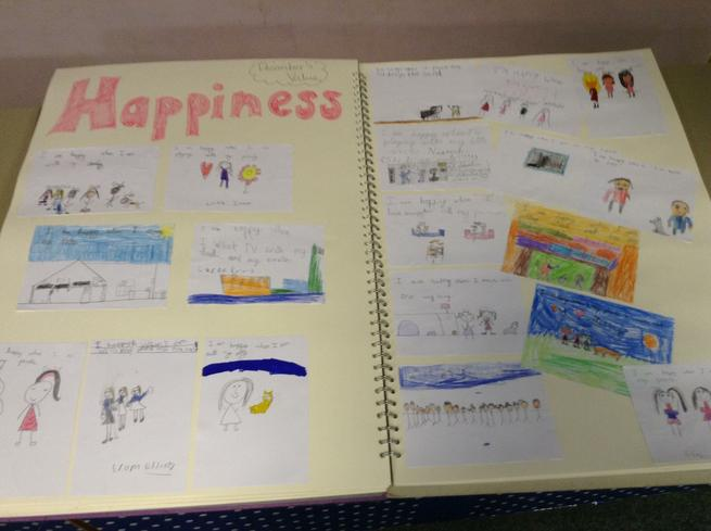 We wrote and drew pictures - What makes me happy!