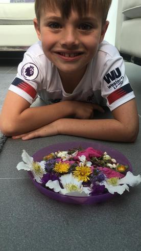 Hayden's flower saucer