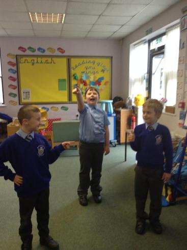 "We acted out the story of ""Grandad's Secret GIant"""
