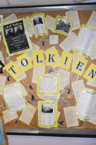 We produced a display all about Tolkien.