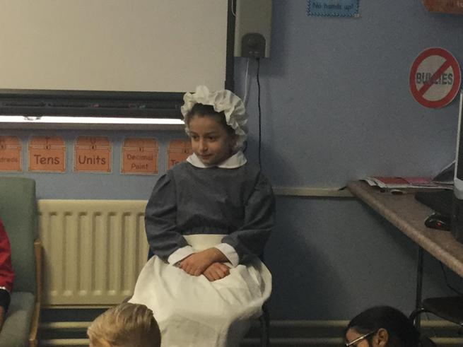 A maid from the Victorian era.