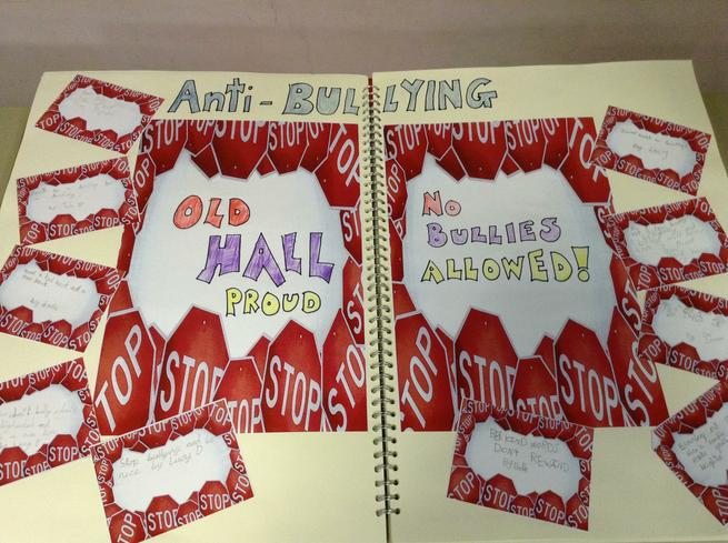 We created anti-bullying slogans for our school!