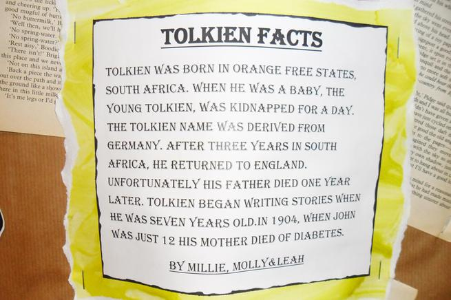 In English we wrote biographies on Tolkien.