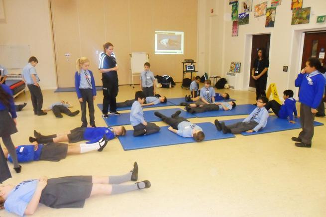 We're okay - just learning vital first aid skills!