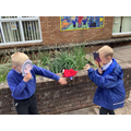 Literacy/drama - Acting out the traditional tale of Little Red Riding Hoods using masks