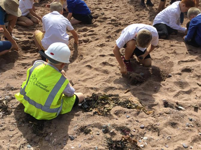 Trip to the beach as archaeologists.