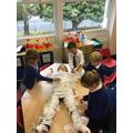 Mummification in class!