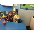 Year 1s made rockets using 3d shapes