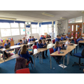 Computing - Using a 'Keyboard dance mat' programme on our chrome books