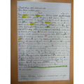 Harvey has improved his writing - well done!