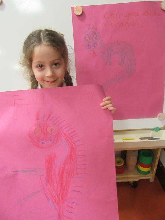 Evie Moon drew a Chinese dragon