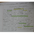 Cole has produced a good setting description using lots of detail and new vocabulary.