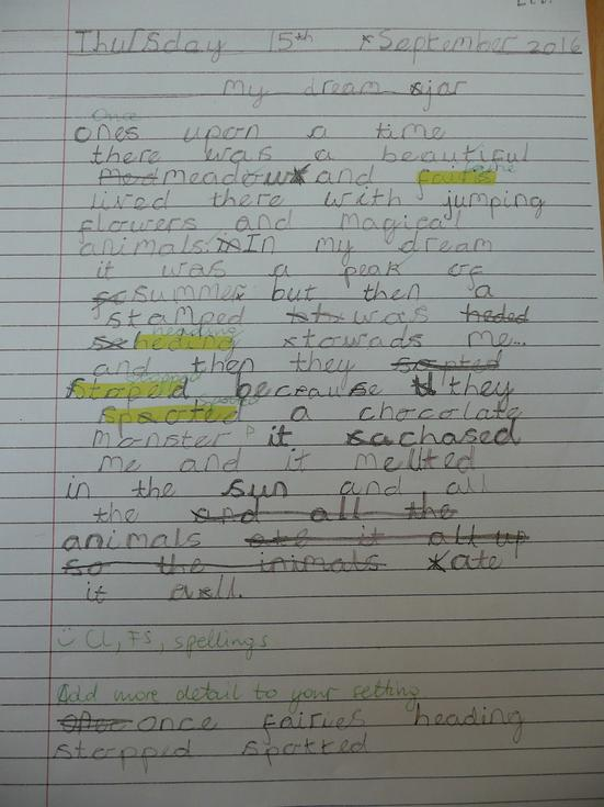 Sophie has described a dream with adjectives.