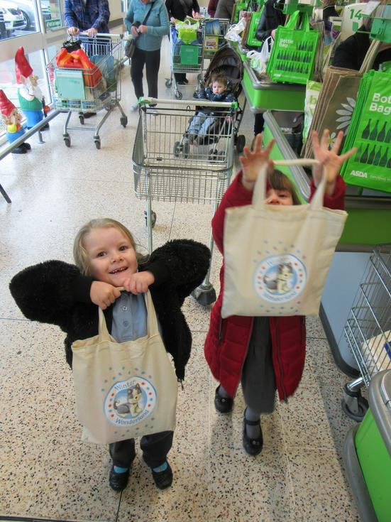 Weekly shopping to Asda for our baking and animals