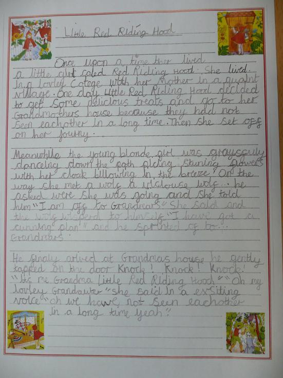 Amelia has used her best handwriting.