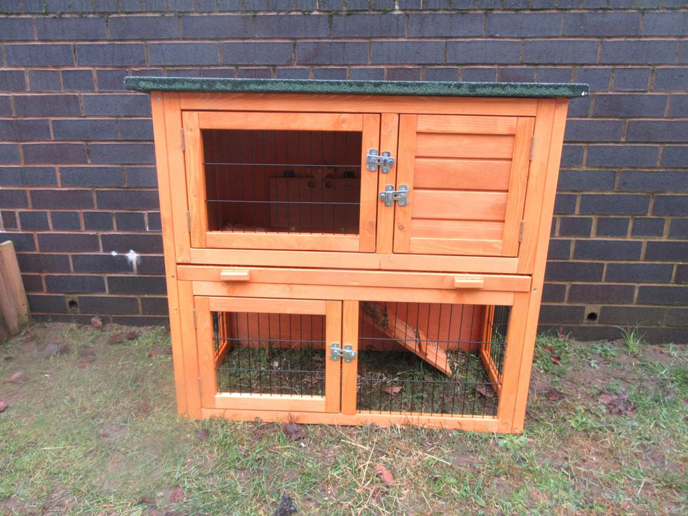We learn to think of others. We  helped to build the guinea pigs' new hutch..JPG